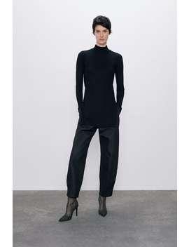 Waxed Effect Slouchy Trousers by Zara