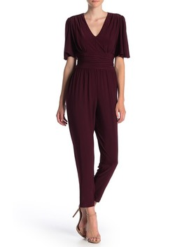 Jersey Knit Ruched Banded Jumpsuit by Taylor
