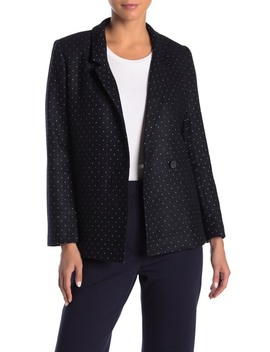 Dot Print Fitted Blazer by Frnch