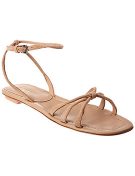 Prada Knot Front Leather & Suede Sandal by Prada