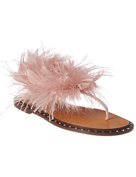 Valentino Feather & Suede Sandal by Valentino