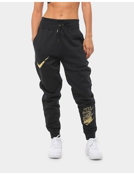 Nike Women's Nike Sportswear Pants Black/Black/Gold by Nike