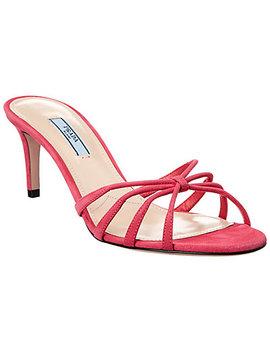 Prada 65 Suede Sandal by Prada