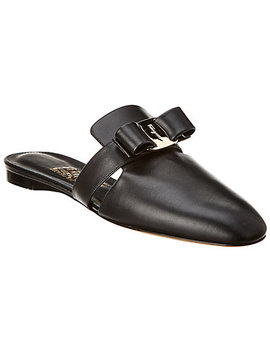Salvatore Ferragamo Briza Vara Bow Leather Slipper by Salvatore Ferragamo