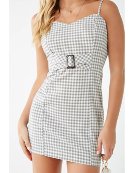 Gingham Print Cami Dress by Forever 21