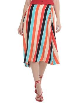 Monica Stripe Asymmetrical Skirt by Astr The Label