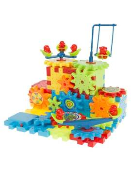 81 Pc. Interlocking Gear Building Set  Stem Learning Toy, Fun Moving Mechanical Construction Blocks Hey! Play! by Hey! Play!