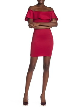 Off The Shoulder Bodycon Dress by Love...Ady