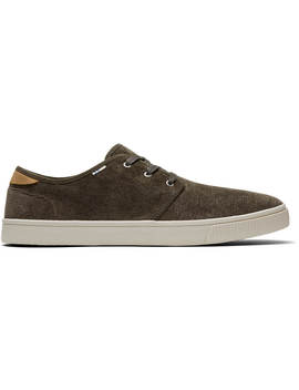 Tarmac Olive Micro Corduroy Men's Carlo Sneakers by Toms