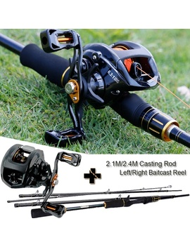 Sougayilang 2.1m/2.4 M Casting Fishing Rod Reel Combos With 4 Section Baitcaster Rod And 13 Bb Casting Reel  by Wish