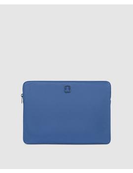 Portadocumentos Laina De Nylon En Azul De Mujer Con Cremallera by Tous