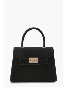 Suedette Small Tote Bag by Boohoo