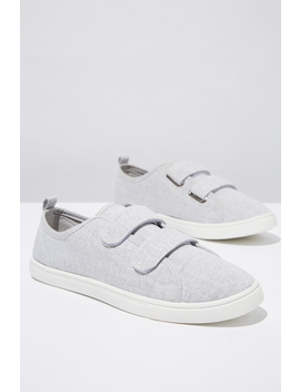 Isabelle Double Strap Plimsoll by Cotton On
