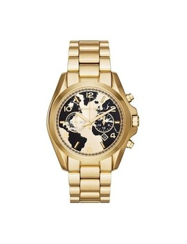 Michael Kors Women's Mk6272 'bradshaw Watch Hunger Stop' Chronograph World Map Gold Tone Stainless Steel Watch by Michael Kors
