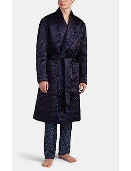 Quilted Satin Robe by Barneys New York