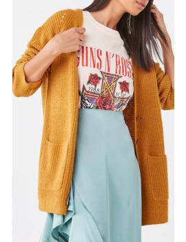Buttoned Longline Cardigan by Forever 21