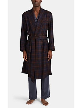Checked Wool Cashmere Robe by Barneys New York