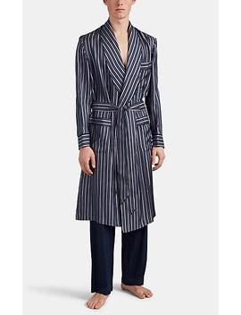 Striped Silk Twill Robe by Barneys New York