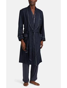 Striped Wool Robe by Barneys New York