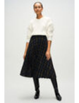 Short Pleated Checkered Skirt by Claudie Pierlot