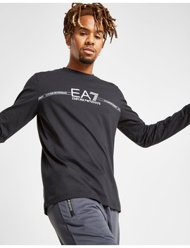 Emporio Armani Ea7 Central Logo Long Sleeve T Shirt by Jd Sports