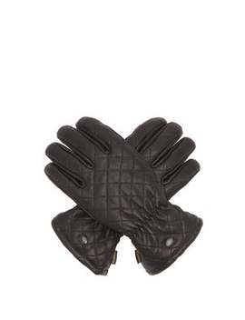 Nishi Fleece Lined Quilted Leather Gloves by Goldbergh