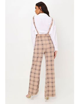 Stone Check Print Dungaree by I Saw It First