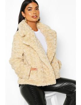 Petite Luxe Faux Fur Short Jacket by Boohoo
