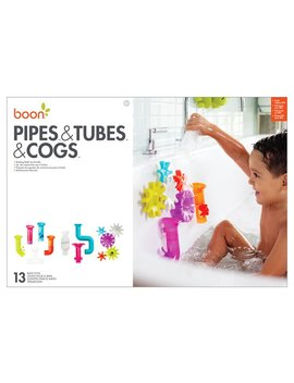 Boon Baby Bath Toy Bundle Set (Pipes Tubes Cogs) by Boon