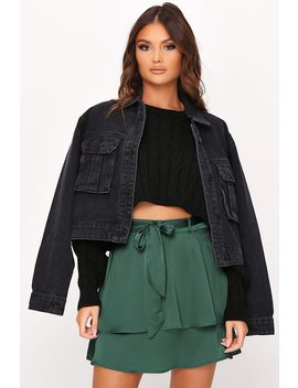 Emerald Tie Waist Layered Skirt by I Saw It First