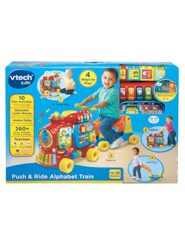 V Tech Baby Push And Ride Alphabet Train   Sit Down Walker Pull Along Ride On by Vtech Baby