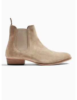Tan Suede Rein Harness Chelsea Boots by Topman