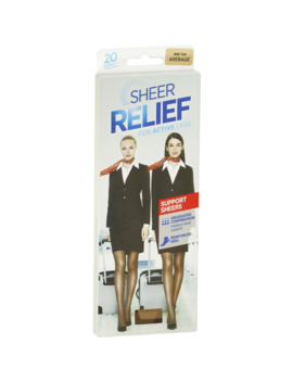 Sheer Relief Pantyhose Control Support Mini Tan Avg Each by Woolworths