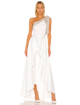Gavin Jumpsuit With Satin Overskirt by Jay Godfrey