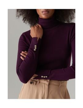 Однотонный свитер с высокой стойкой by Mohito