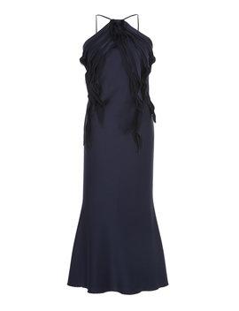 Ruffled Backless Satin Dress by Jason Wu Collection