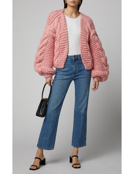 Cable Knit Wool Cardigan by I Love Mr. Mittens