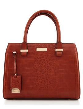 Holly Tan Moc Croc Grab Bag by Carvela