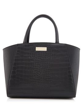 Elder Black Moc Croc Grab Bag by Carvela