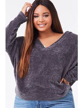 Plus Size Chenille Dolman Sweater by Forever 21