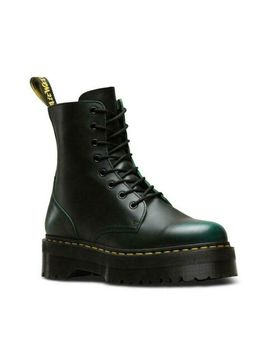 Dr Martens Jadon Vintage Green Leather Platform Double Sole Boots by Ebay Seller