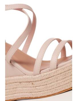 Nude Cross Over Wedges by I Saw It First