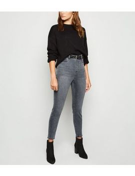 Pale Grey 'lift & Shape' Jeggings by New Look