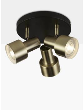 John Lewis & Partners Shelby Gu10 Led 3 Spotlight Ceiling Plate, Black/Brass by John Lewis & Partners