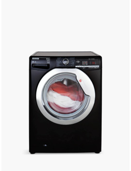 Hoover Dynamic Next Advanced Wdxoa 485 Acb Freestanding Washer Dryer With Nfc, 8kg Wash/5kg Dry Load, A Energy Rating, 1400rpm Spin, Black/Chrome by Hoover