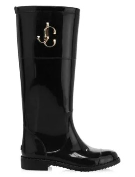 Edith Logo Weather Boots by Jimmy Choo