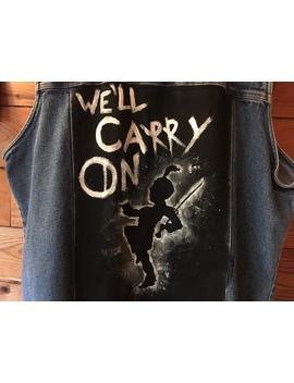 We'll Carry On   My Chemical Romance Hand Painted Denim Vest by Etsy