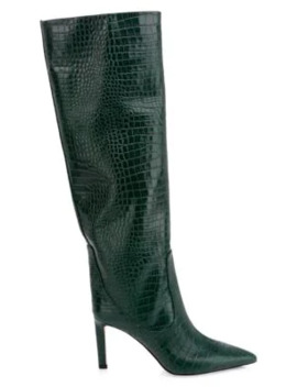 Mavis Tall Snake Embossed Leather Boots by Jimmy Choo