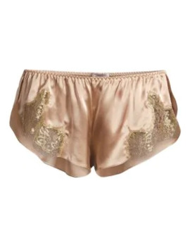 Gina Silk Lace Trim Shorts by Gilda And Pearl