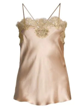 Gina Lace Trim Silk Camisole by Gilda And Pearl